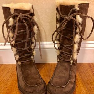 UGG Espresso Uptown Lace Up Boots